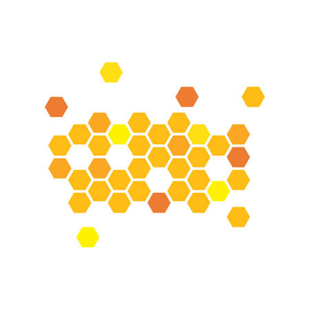 honey comb vector icon illustration design Ilustracje wektorowe