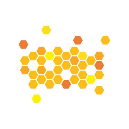 honey comb vector icon illustration design Vektoros illusztráció