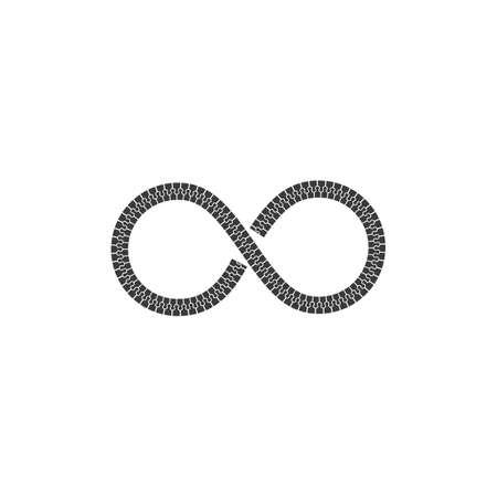 infinity zip icon vector illustration design template Vectores