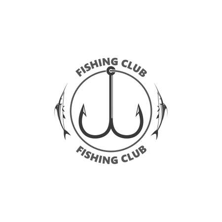 fishing hook  logo icon vector illustration design