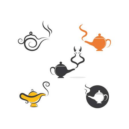 magic lamp icon vector illustration design template 向量圖像