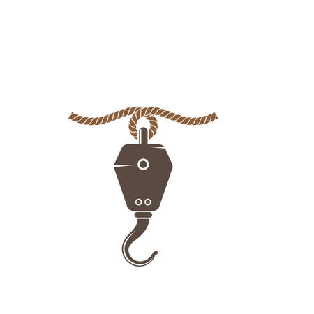 Crane hook logo vector illustration template