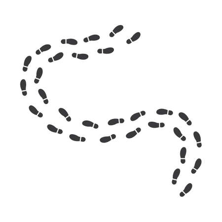 footsteps print route vector illustration design template Ilustracje wektorowe