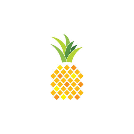 pineapple icon vector illustration design template