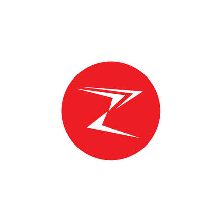 Arrow z letter icon vector illustration  Template design Ilustrace