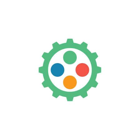 gear game button controller icon vector illustration design