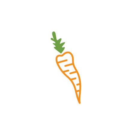 carrot  icon vector illustration design template Ilustrace
