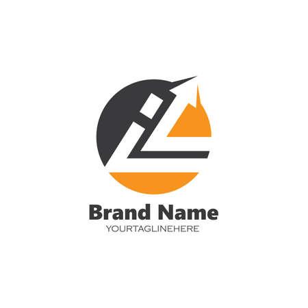 l letter arrow icon  business vector design template