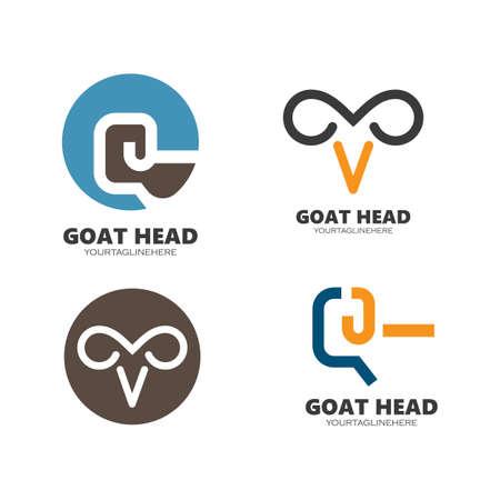abstract Goat head  icon vector illustrtion design