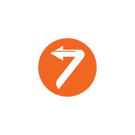 number seven icon vector illustration design template