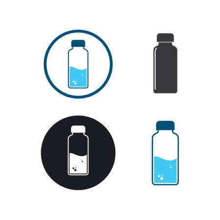 water bottle icon vector illustration design template
