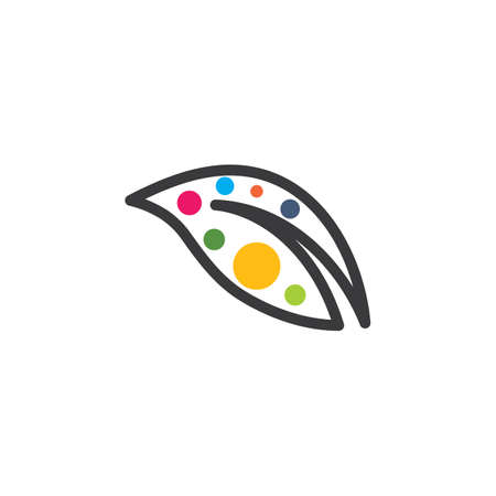 abstract  colorfull leaf icon illustration  design template Ilustrace