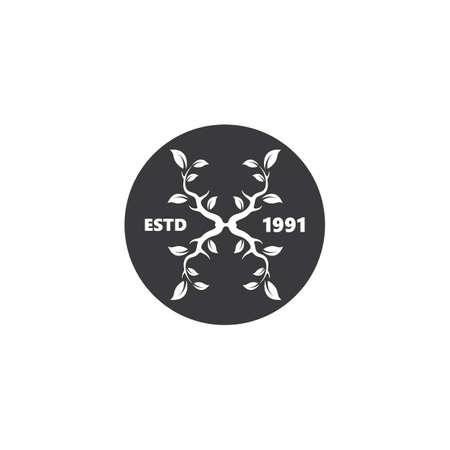 x letter branches concept  icon logo vector illustration design
