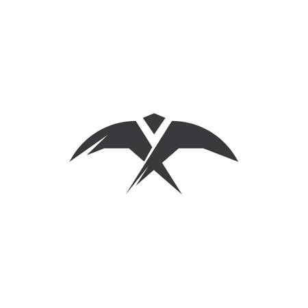 abstract Falcon Eagle Bird Template vector icon