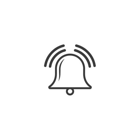 bell notification icon vector illustration design template