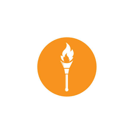 burning torch illustration vector design