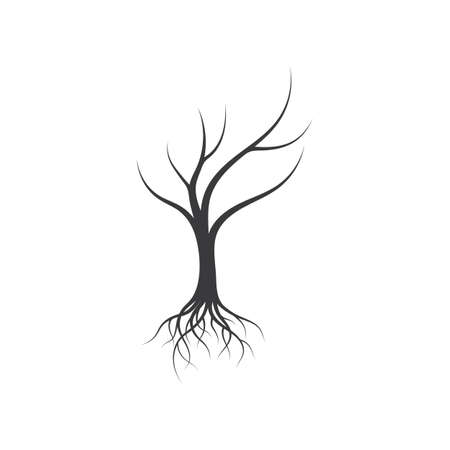Tree without leaf icon template vector design Ilustracje wektorowe