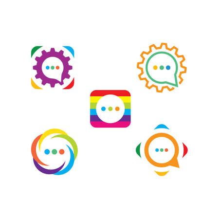 speech bubble icon vector illustration design template