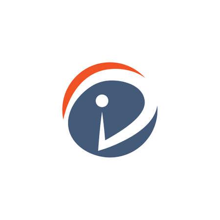ID  letter icon illustration vector design template