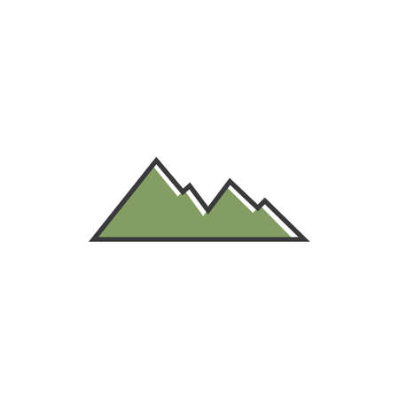 High Mountain icon  vector illustration design Template