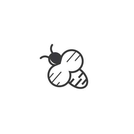 honey Bee Template vector illustration design 向量圖像