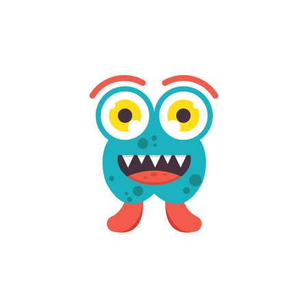 cartoon monsters mascot icon vector illustration design template web