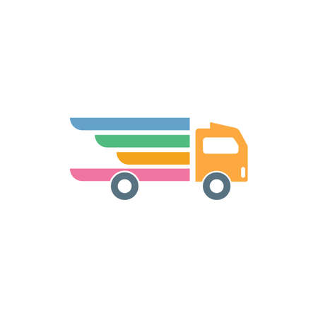 shipping truck icon  vector illustration design template