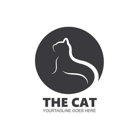cat vector icon illustration design template