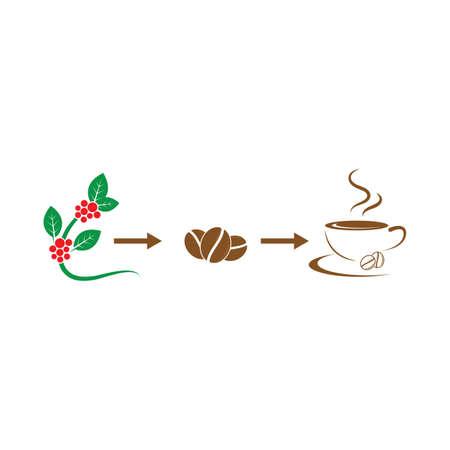 processing coffee vector icon illustration design template web