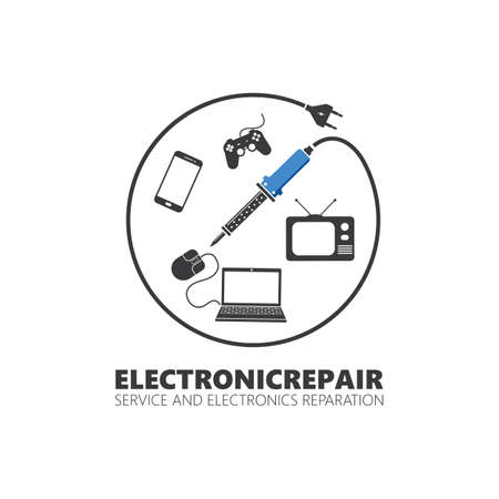 electronic service and repair icon vector illustration design template