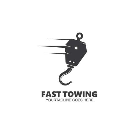 towing vector icon design template
