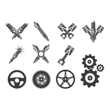 automotive spareparts vector icon illustration design template
