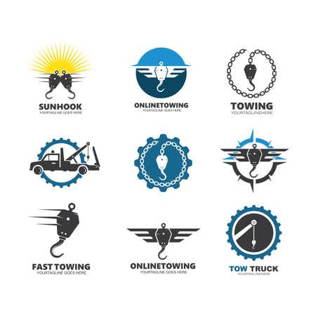 towing vector icon design template