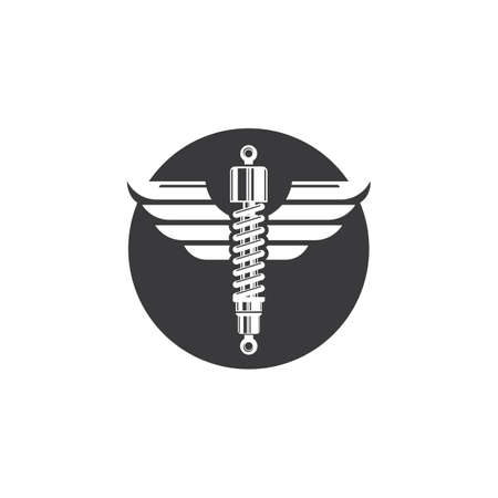 shock absorber wings  icon vector illustration design template