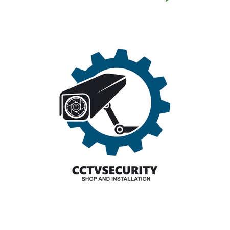 cctv gear icon vector illustration design template web