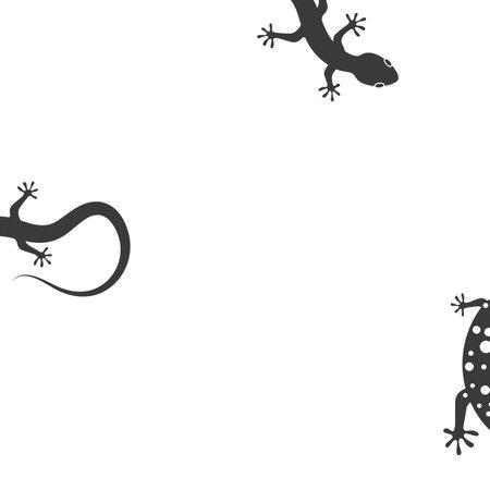 Gecko vector icon illustration template
