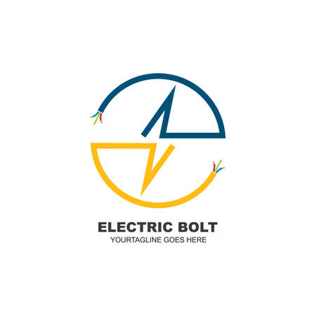 electrical service and installation  icon vector design template