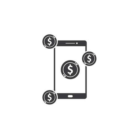 earning money with smartphone  icon vector illustration design template web