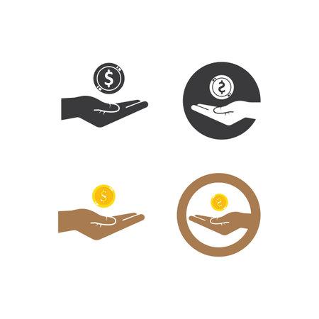 earning money icon vector illustration design template web