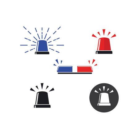 siren icon vector illustration design template web