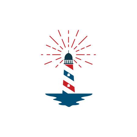 lighthouse vector illustration design template Ilustración de vector