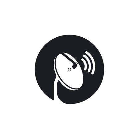 parabolic satellite tv icon vector illustration design template