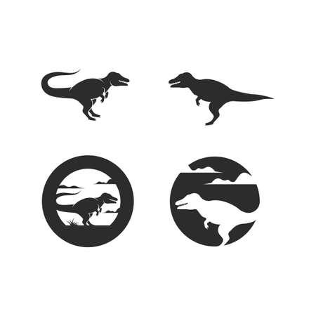 dinosaur  icon vector illustration design template