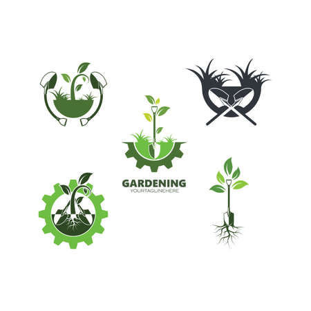 gardening icon vector illustration design template 向量圖像