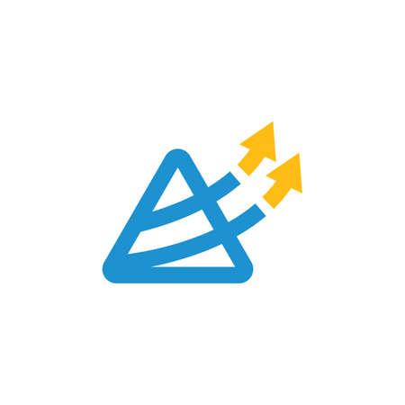 triangle  Arrow icon vector illustration  design