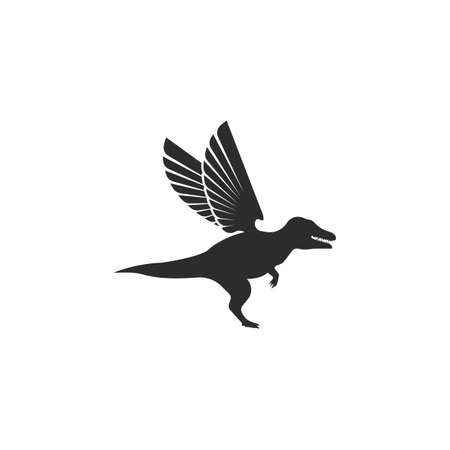 dinosaur with wings  icon vector illustration design template
