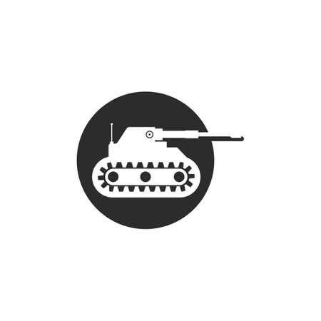 army tank icon vector illustration design template web 向量圖像