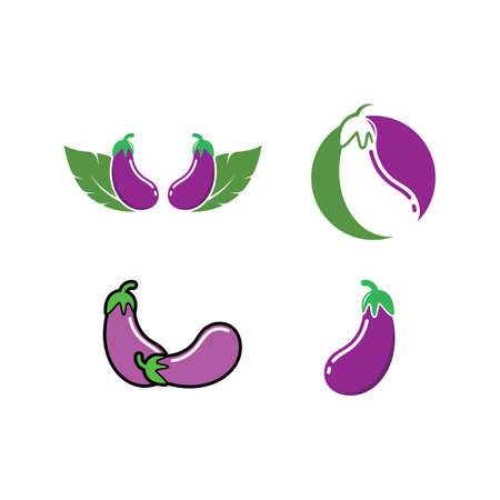 egg plant icon vetor illustration design template