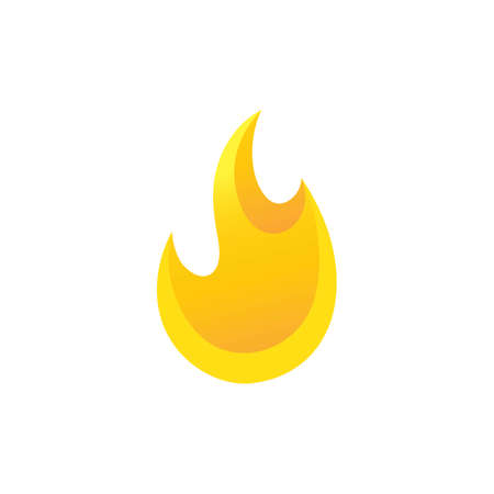 Fire flame  icon vector illustration design template