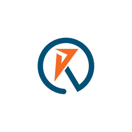 R or k  letter icon business vector design  template